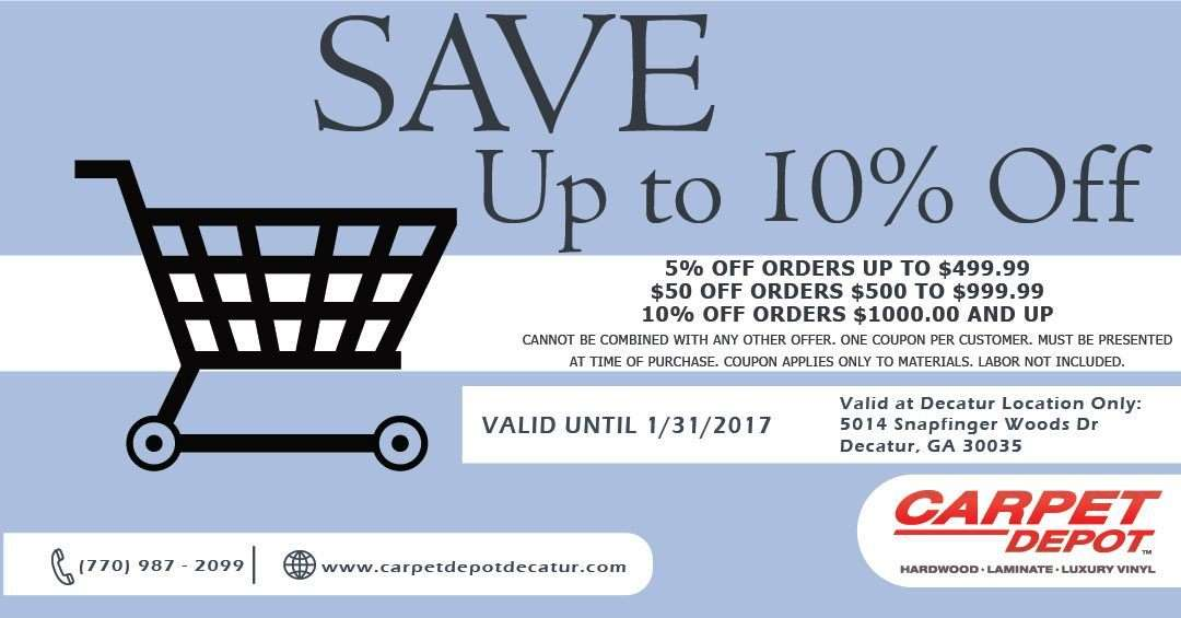 January 2018 Coupon