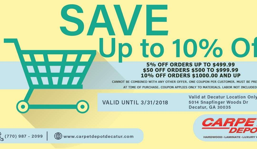 April 2018 Coupon