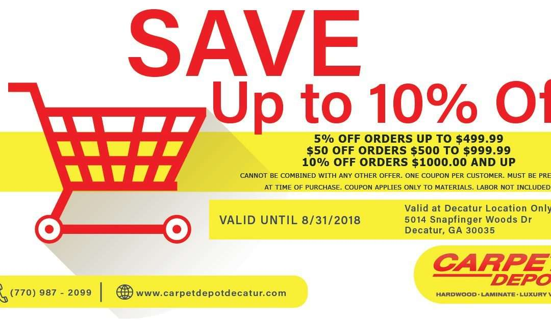 August 2018 Coupon