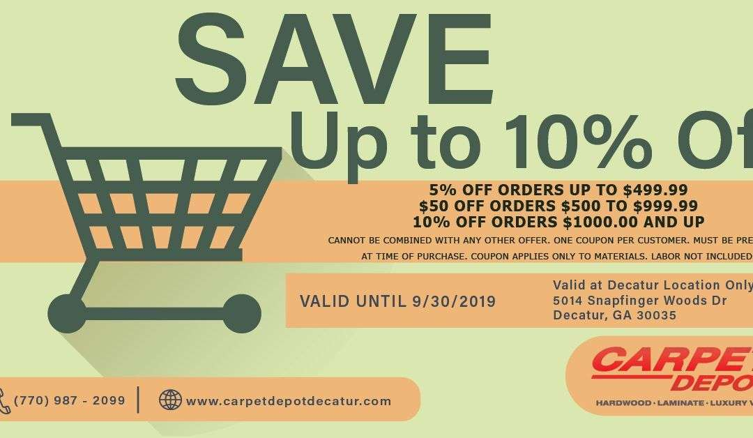 October 2019 Coupon