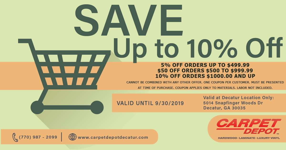 September 2019 Coupon Carpet Depot